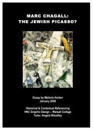 MARC CHAGALL: THE JEWISH PICASSO? - Brett M. Rhyne