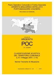 Norme Tecniche di Attuazione - Comune di Argenta