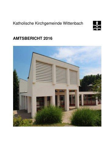 Amtsbericht 2016 Wittenbach