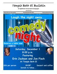Join us for a fun… Ladies Night Out - Temple Beth El
