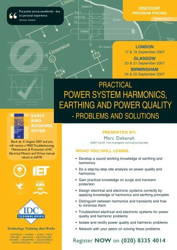 POWER SYSTEM HARMONICS, EARTHING AND POWER QUALITY