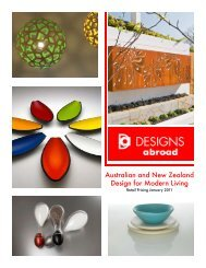 Australian and New Zealand Design for Modern ... - Designs Abroad
