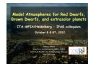 Model Atmospheres for Red Dwarfs, Brown Dwarfs, and extrasolar ...