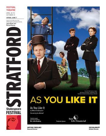 As You Like It.indd - Stratford Festival