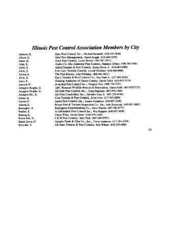 Illinois Pest Control Association Members by City - Chicago Home ...