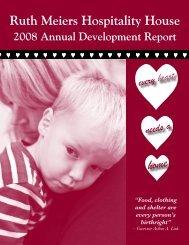2008 Annual Development Report - Ruth Meiers Hospitality House