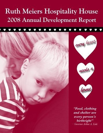 2008 Annual Development Report - Ruth Meiers Hospitality House