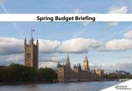 Spring Budget Briefing