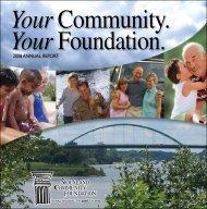 2008 AnnuAl RepoRt - Siouxland Community Foundation