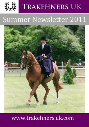 Summer Newsletter 2011 - Trakehners UK