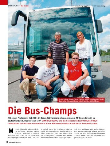 Die Bus-Champs - BUSFAHRER