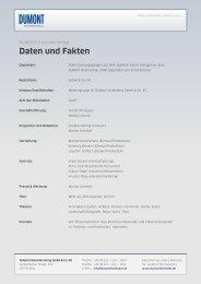 Daten und Fakten - Dumont Kalenderverlag