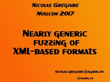 Nearly generic fuzzing of XML-based formats