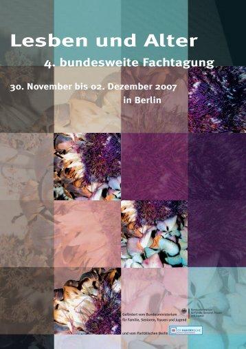 4. bundesweite Fachtagung Lesben und Alter - Dachverband ...