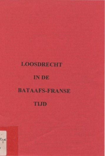 Loosdrecht in de Bataafs-Franse tijd