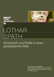 LOTHAR SPÄTH - Basler Denkanstösse