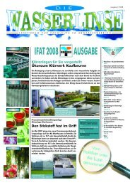 AUSGABE IFAT2008 - Die Wasserlinse