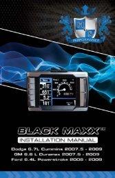 1-888-628-1730 • Black Maxx Installation ... - H&S Performance