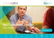 Type 1 Consultation (T1C) Tool User Guide