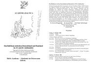 Akademie im Ostseeraum Lübeck - Academia Baltica