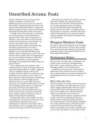 Unearthed Arcana Starter Spells