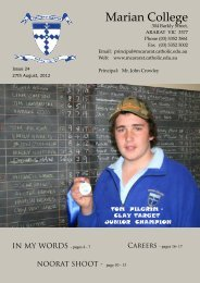August - 2012 - Marian College