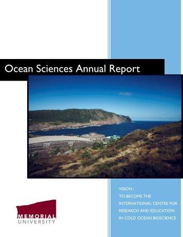 Ocean Sciences Annual Report