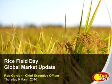 Rice Field Day Global Market Update