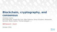 Blockchain cryptography and consensus