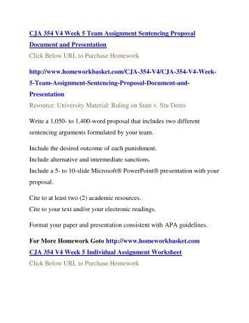 CJA 354 V4 UOP Homework,CJA 354 V4 UOP Assignment,UOP CJA 354 V4 Entire Course,CJA 354 V4 UOP Help