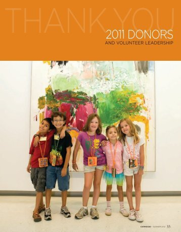 2011 DONORS - Carnegie Museums
