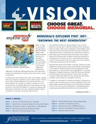 Vision Newsletter Winter 2006 - Memorial Medical Center