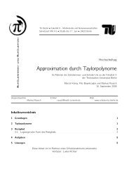 Approximation durch Taylorpolynome - Schüler-Uni - TU Berlin