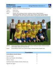 B-Mädchen Saison 2003 / 2004 - SpVgg Willenhofen-Herrnried eV