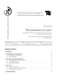 Wie funktioniert ein Laser? - Schüler-Uni - TU Berlin