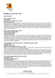 SPAZIO / List of works / Arte - Maxxi