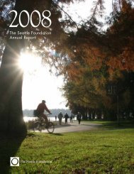 2008 Annual Report - The Seattle Foundation