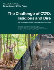 The Challenge of CWD Insidious and Dire