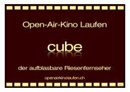 cube - Open-Air-Kino Laufen