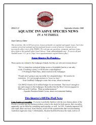 ANS News in a Nutshell #20 - The Aquatic Nuisance Species Project