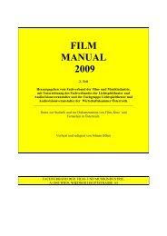 FILM MANUAL 2009 - Film and Music Austria
