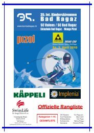 35. Internationales Kinderskirennen - ALGE-TIMING Schweiz