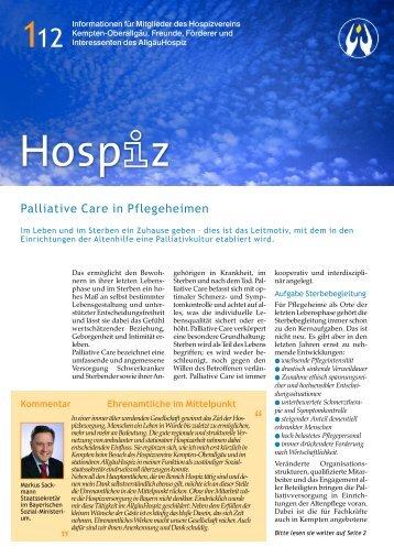 Hospiz-Infobrief 1/2012 - Allgäu Hospiz