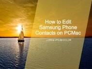 How to Edit Samsung Phone Contacts on PCMac