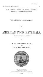 1906, Chemical Composition of American Food Materials