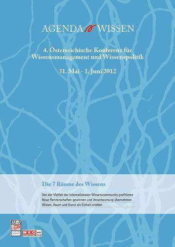 Programm Konferenz Agenda Wissen 2012 - KMA