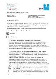 Protokoll des öffentlichen Teils - BenE – München