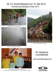 Bisherige Sieger: Männer, Frauen, Mannschaften ... - Kandelberglauf