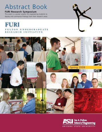 Abstract Book - Ira A. Fulton Schools of Engineering - Arizona State ...