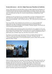Bericht von Markus Spägele - Allgäu Panorama Marathon